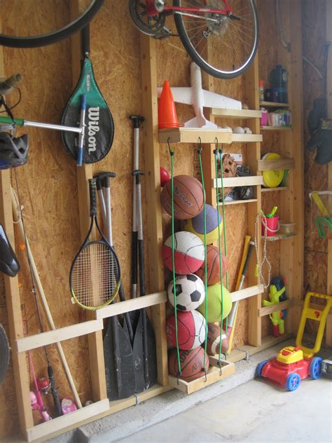 Garage Storage For Balls Diy Storage Solutions For A Well Organized Garage