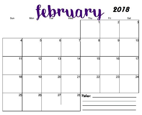 Galerry printable blank quarterly calendar 2018