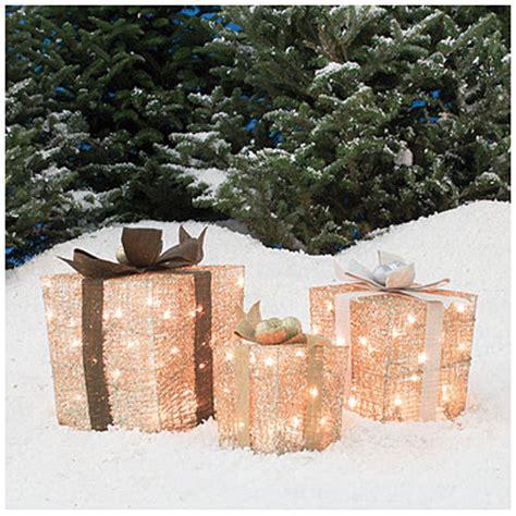big lots outdoor decorations glittering chagne gift box set 3 pack big lots