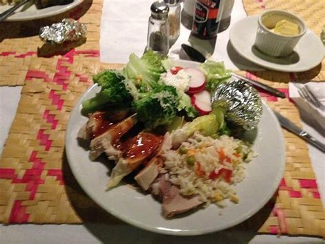 cold dinner cold plate for christmas dinner picture of hotel jaguar inn tikal tikal national park