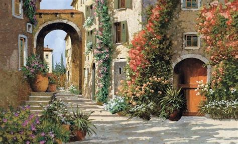 Beach Wall Murals Cheap italian street tuscany tuscan breezeway 9x15 wallpaper