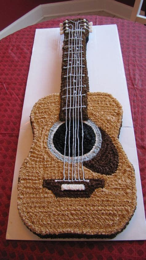 gitarren kuchen die besten 25 acoustic guitar cake ideen auf
