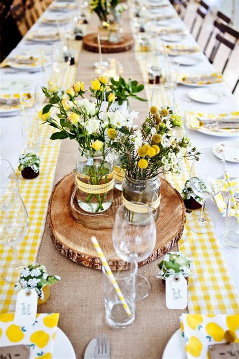 tischdeko gelb fantastische deko ideen f 252 r eine gartenparty
