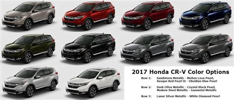 what is the color for 2017 what are the 2017 honda cr v color options