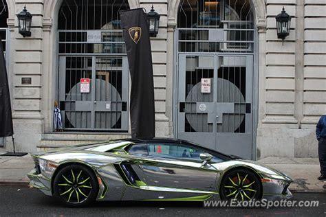 Chrome Lamborghini Nyc Lamborghini Aventador Spotted In New York City New York