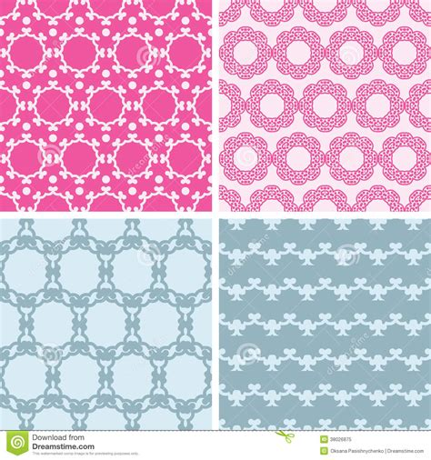 vector pattern matching four abstract chain motives seamless patterns set royalty