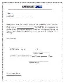 personal affidavit template brilliant affidavit of self employed professional sle