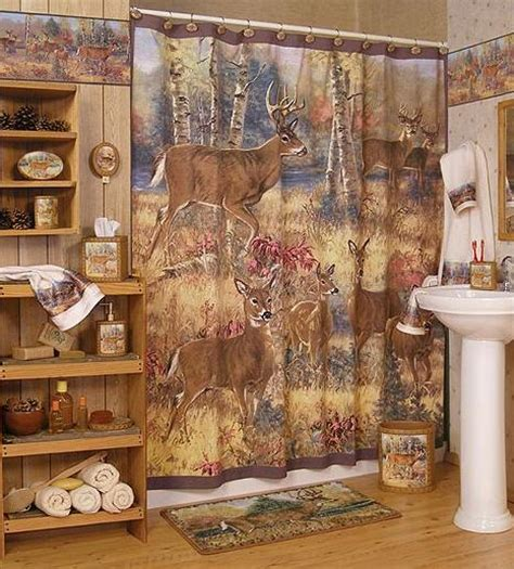 Cabin Bathroom Accessories by Deer Bathroom Decor