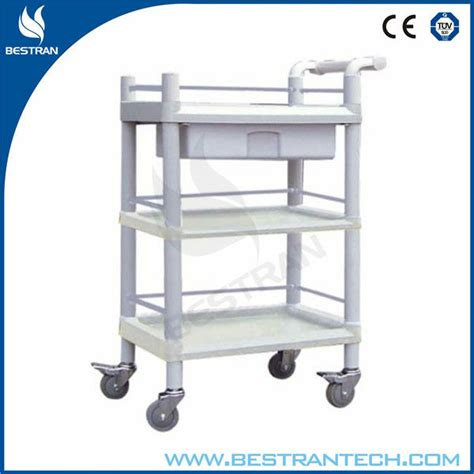 Plastic Cart With Drawers And Wheels by China Bt Uy008 Abs Plastic Utility Cart Three Layers