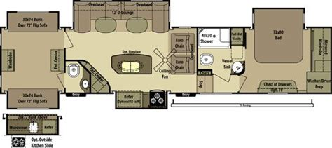 two bedroom rv floor plans 2 bedroom fifth wheel floorplans google search cer