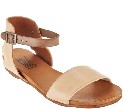 Flast Shoes Sandal Wanita Mg30 miz mooz leather ankle sandals alanis page 1 qvc