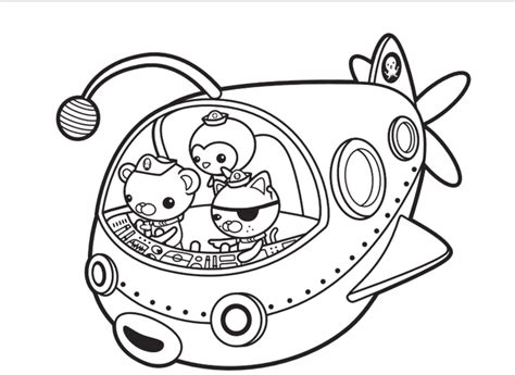 octonauts coloring pages octonauts captain barnacles coloring pages printable