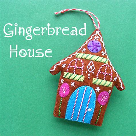 gingerbread a free felt christmas ornament pattern shiny happy world