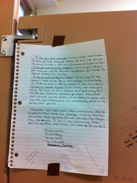 girls bathroom stall note left in girls bathroom stall offers hope comfort to others fox2now com