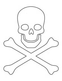 Printable Skull Template by Skull And Crossbones Pattern Use The Printable Outline