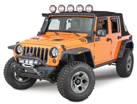 Jeep Tj Flat Fender Flares Rugged Ridge 11640 10 Hurricane Flat Fender Flares For 07