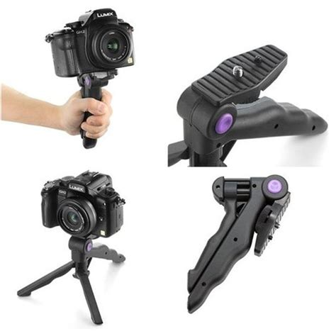 Jual Monopod Kamera Dslr 2in1 table mini portable folding tripod stand grip