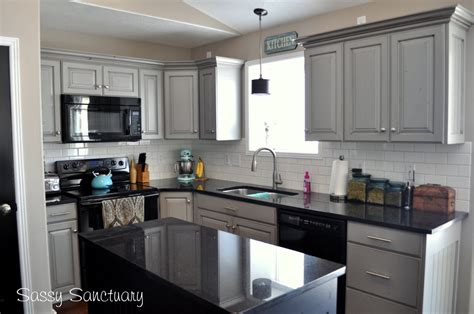 Light Grey Kitchen Cabinets With Black Counters light gray kitchen cabinets with black countertops home safe