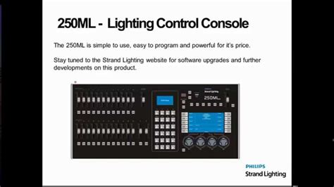 lighting console 250ml strand lighting console overview