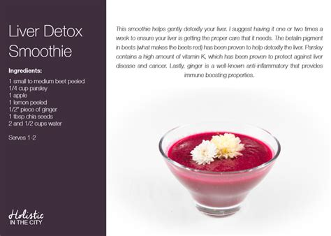 Liver Detox Recipe For Weight Loss by Liver Detox Smoothie From The Hitc 21 Day Smoothie Guide
