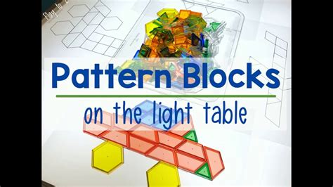 pattern blocks youtube pattern blocks light table youtube
