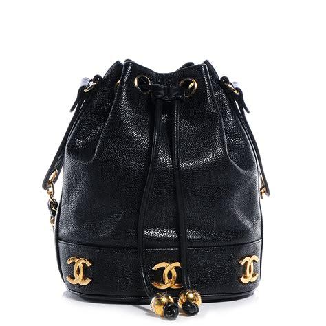 Chanel Shoulder Pouch Bag by Chanel Vintage Caviar Cc Drawstring Shoulder Bag Black 63640