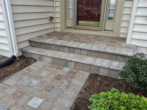 life time pavers chiseled paver front walkway