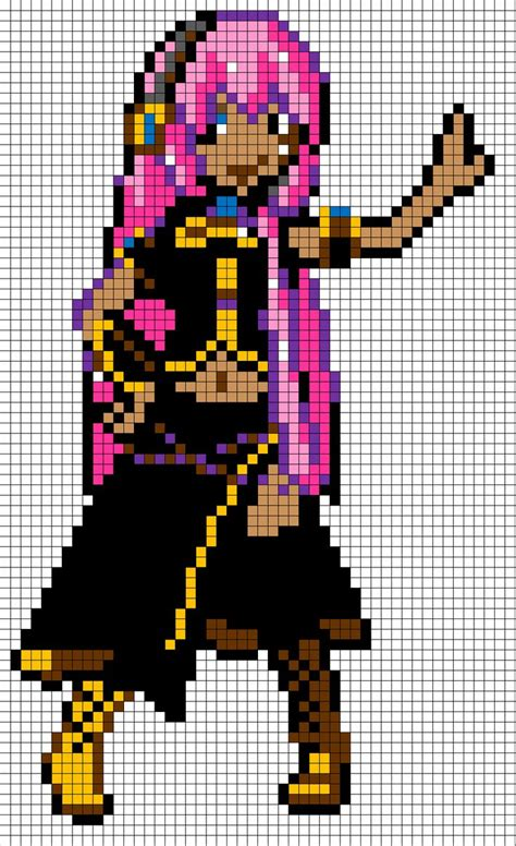 minecraft anime pixel templates megurine luka pixel template i made this one myself