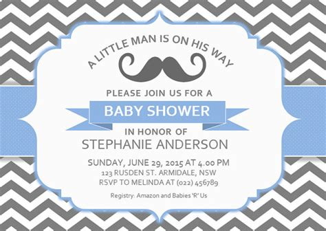 baby shower templates for word diy printable ms word baby shower invitation template by