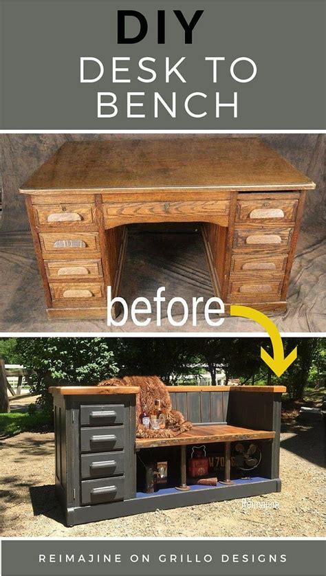 repurposed office furniture best 25 repurposed desk ideas on