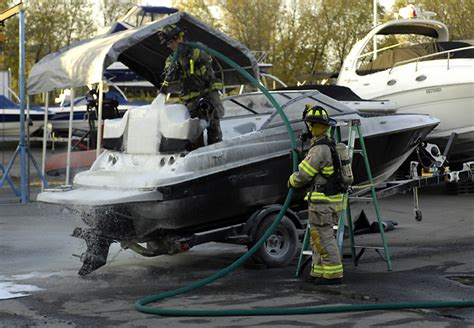 boat mechanic penticton boat in for repairs catches fire infonews