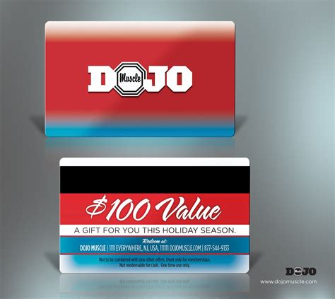 Gift Card Vendors - plastic gift cards holiday style 5 dojo muscle