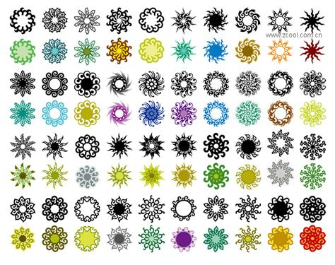 circular pattern ai variety of classical elements in a circular pattern vector