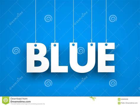 white word blue on blue background stock illustration