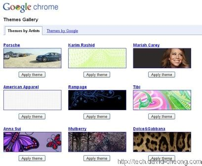 themes gallery google chrome google chrome themes gallery