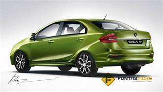 Proton Sedan Proton Iriz Sedan Or Saga 3 Rendering Rear Three Quarter