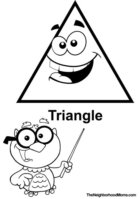 triangle coloring pages for toddlers shapes coloring pages printable the neighborhood