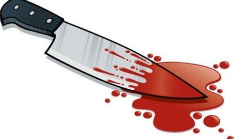 pictures of knives with blood on them he stabbed his nearly 40 times kannadiga world