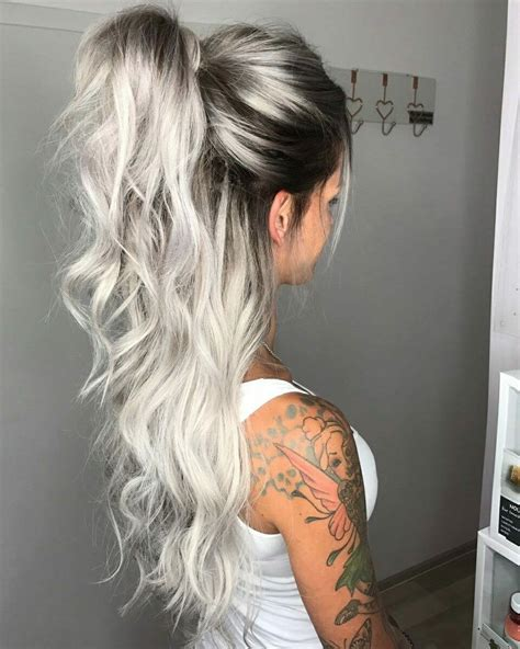 pics of dark blonde silver hair silver blond ombre people pinterest blond ombre and