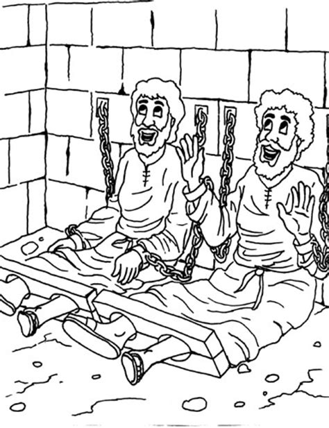 Paul And Silas Coloring Page my