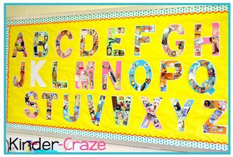 alphabet wall bulletin board bulletin boards pinterest