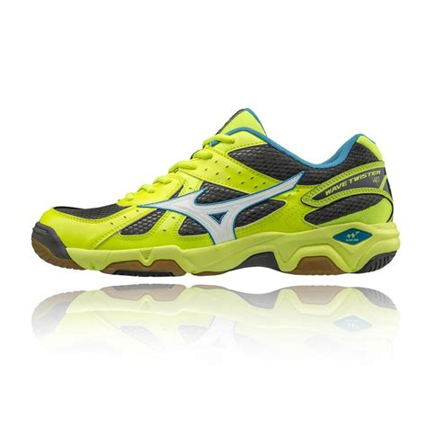 Mizuno Wave 4 2017 mizuno wave 4 mens yellow squash badminton indoor court shoes trainers