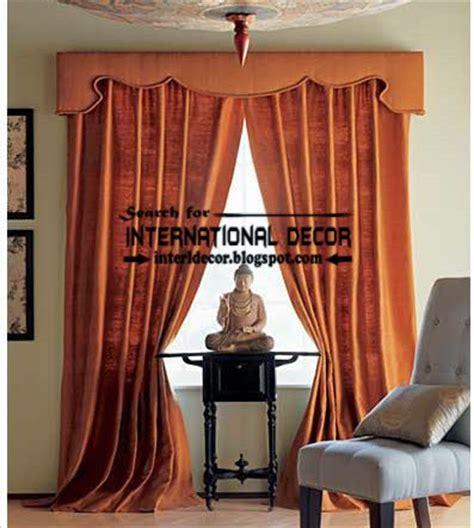 classic drapery classic orange curtain designs and window treatment