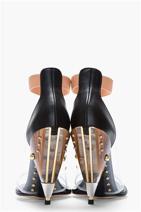 Heel Black Kezia Termurah 05 lyst givenchy black and transparent albertina podium heels in black