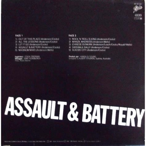 assault and battery by rose tattoo lp with vinyl59 ref