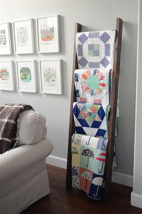 How To Make A Ladder Quilt Rack by Diy Quilt Ladders