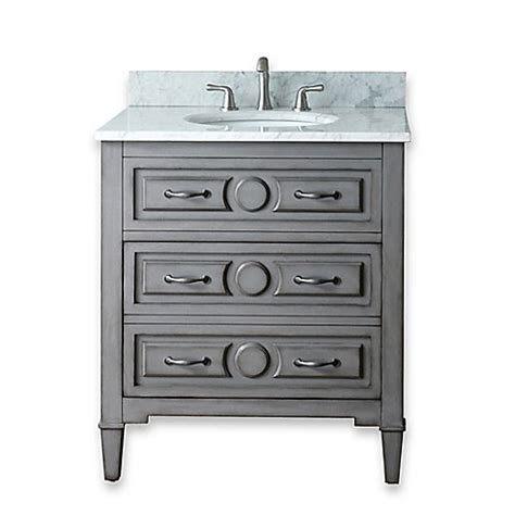 30 in bathroom vanity combo buy avanity kelly 30 inch bathroom vanity combo in grey blue from bed bath beyond