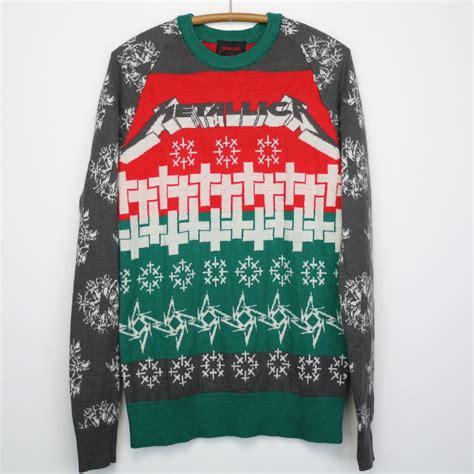 metallica xmas jumper metallica christmas sweater 2013 wyco vintage