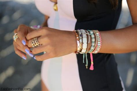 Style Watch: Colorful Layering Bracelets trend   Fab Fashion Fix