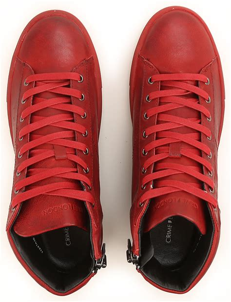 chaussures homme crime code produit  rosso